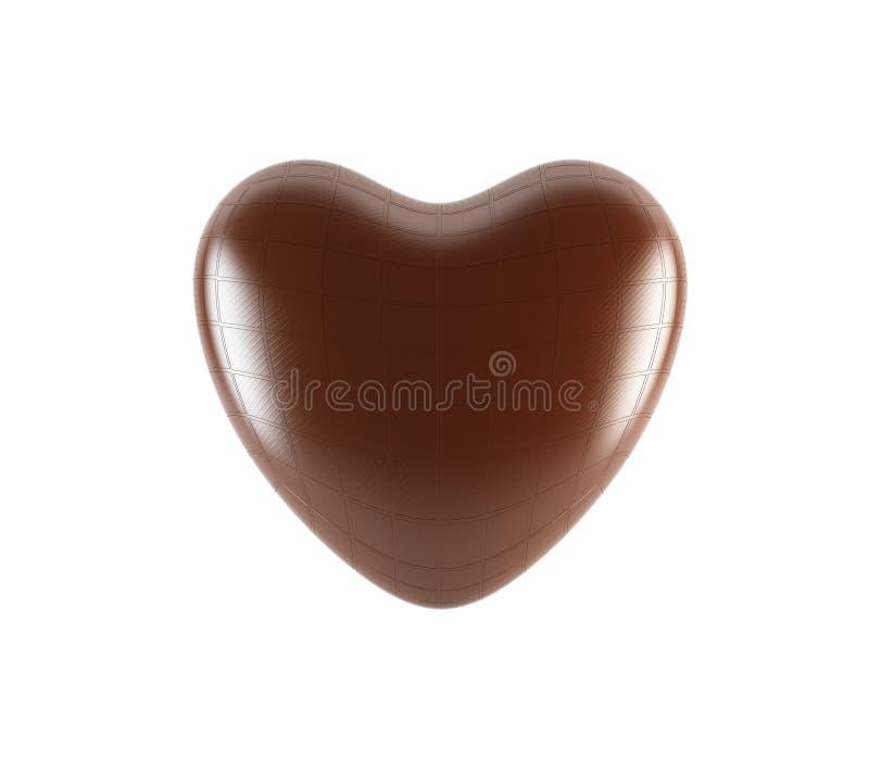 καρδιά σοκολάτας διανυσματική απεικόνιση