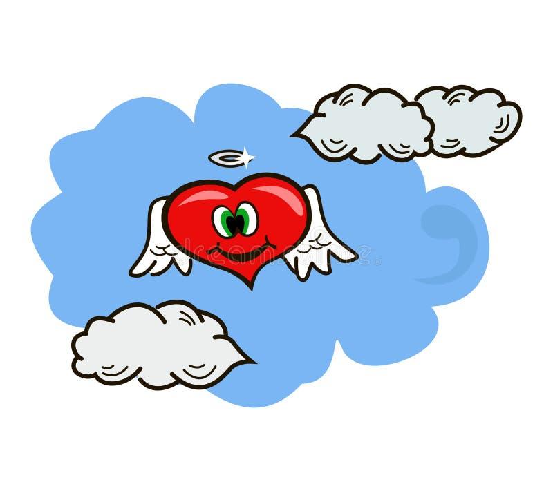 Καρδιά στα σύννεφα ελεύθερη απεικόνιση δικαιώματος