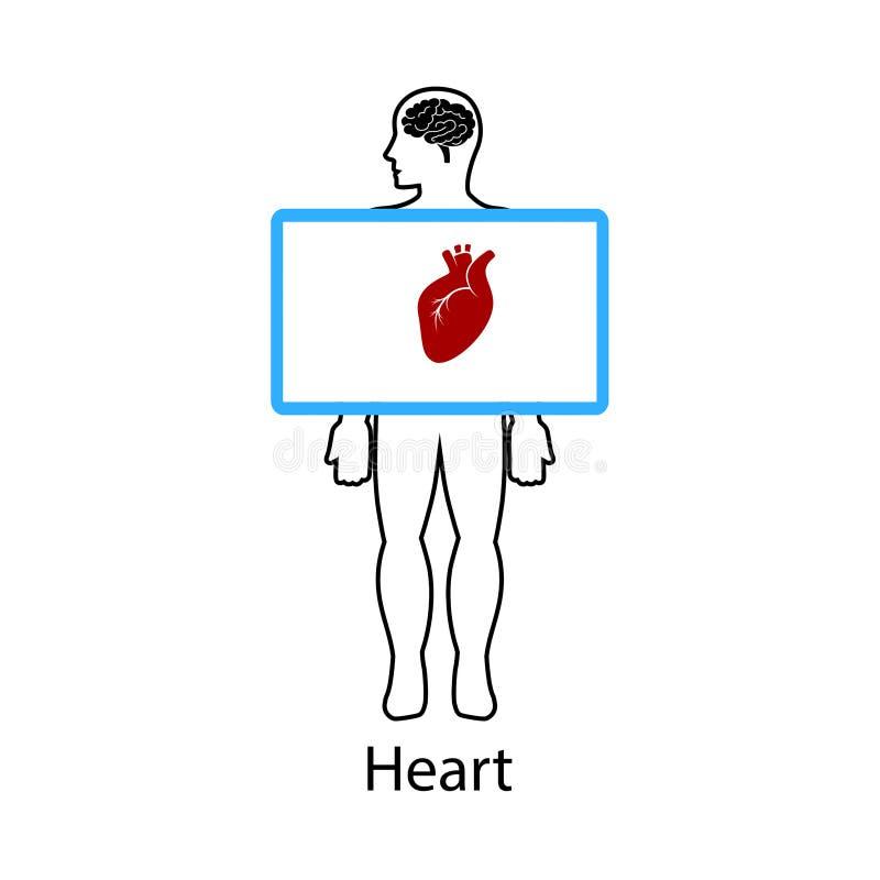 Καρδιά στην οθόνη επίσης corel σύρετε το διάνυσμα απεικόνισης διανυσματική απεικόνιση