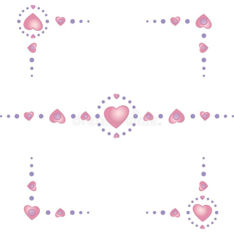 Καρδιά-σύνορο-γωνίες στοκ εικόνες