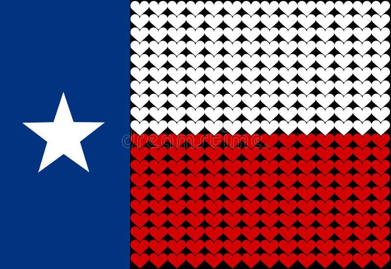 καρδιά Τέξας σημαιών διανυσματική απεικόνιση