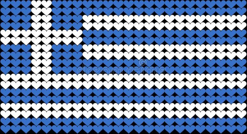 καρδιά της Ελλάδας σημα&iota διανυσματική απεικόνιση