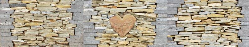 Καρδιά του φυσικού φωτός υποβάθρου σύστασης ψαμμίτη ασβεστόλιθων πετρών βράχου κομματιών τοίχων πετρών στοκ φωτογραφία