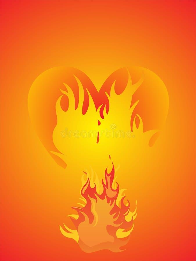 Download καρδιά φλογών διανυσματική απεικόνιση. εικονογραφία από σχέδιο - 13182960