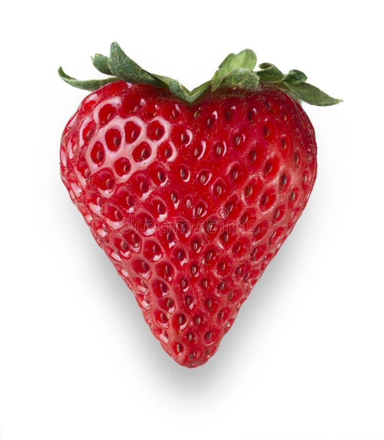 Καρδιά φραουλών στοκ εικόνα με δικαίωμα ελεύθερης χρήσης