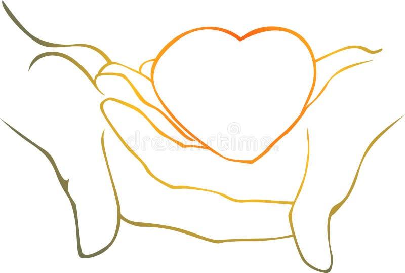 καρδιά χεριών δικοί του ελεύθερη απεικόνιση δικαιώματος
