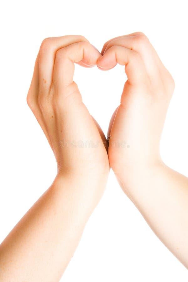 καρδιά χεριών στοκ φωτογραφίες