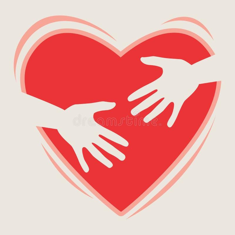καρδιά χεριών διανυσματική απεικόνιση