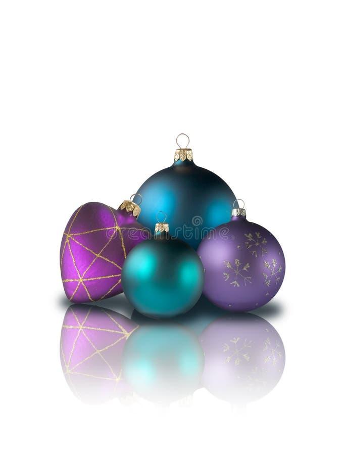καρδιά Χριστουγέννων σφαιρών στοκ φωτογραφίες με δικαίωμα ελεύθερης χρήσης
