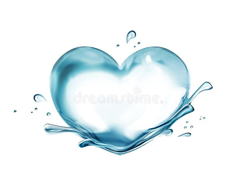 Καρδιά ύδατος διανυσματική απεικόνιση