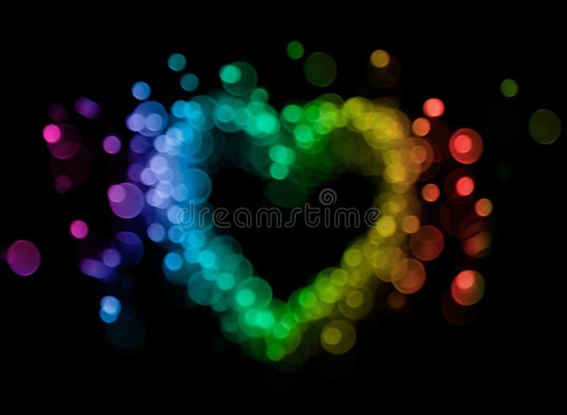 Καρδιά Bokeh στοκ εικόνα