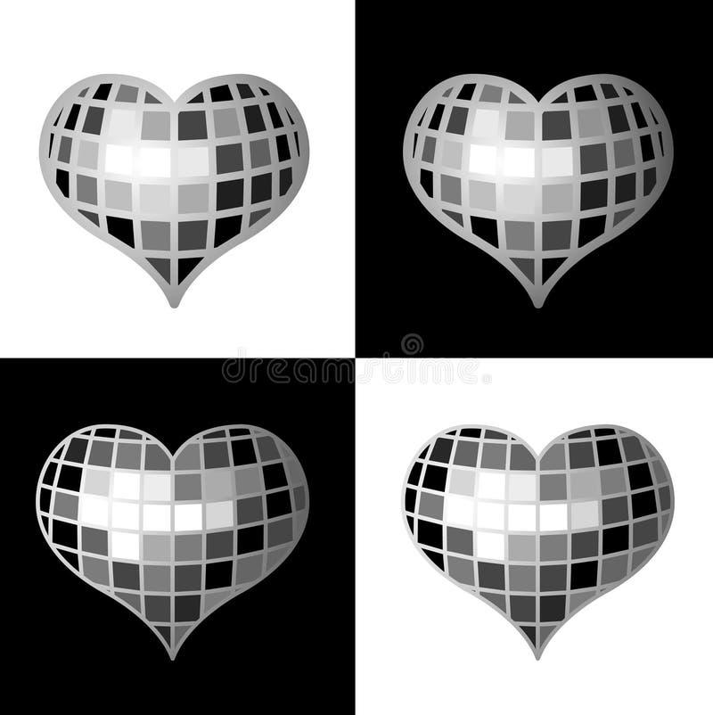 καρδιά disco διανυσματική απεικόνιση