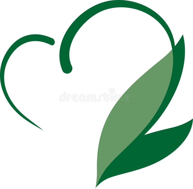 Καρδιά Eco διανυσματική απεικόνιση