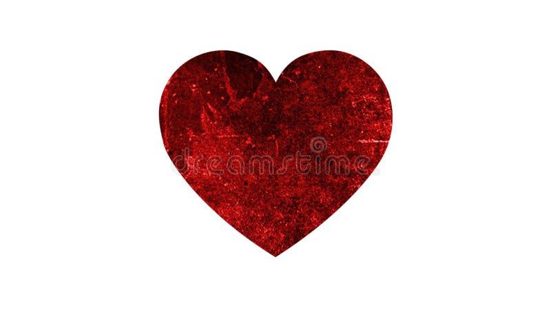 Καρδιά Grunge στο άσπρο υπόβαθρο στοκ εικόνες