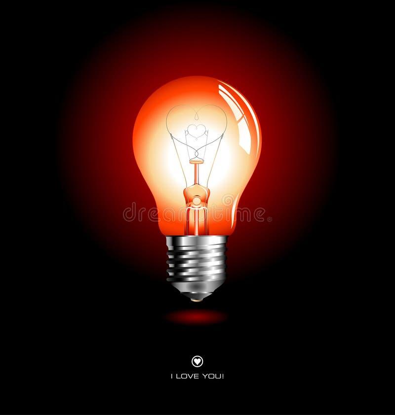 καρδιά lightbulb ελεύθερη απεικόνιση δικαιώματος