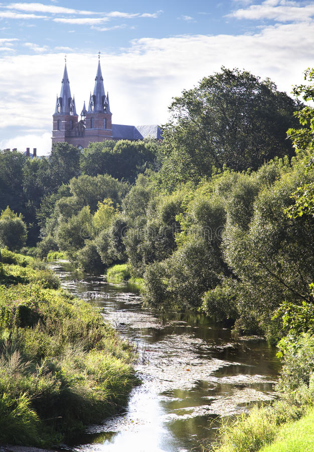Καρδιά Rezekne του Ιησού Cathedral, Λετονία. στοκ φωτογραφίες με δικαίωμα ελεύθερης χρήσης