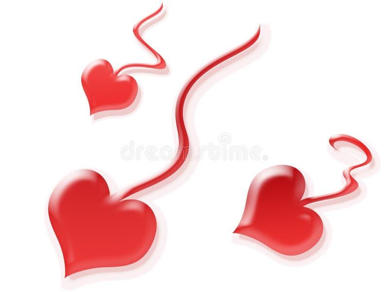καρδιά spermatozoons στοκ εικόνα