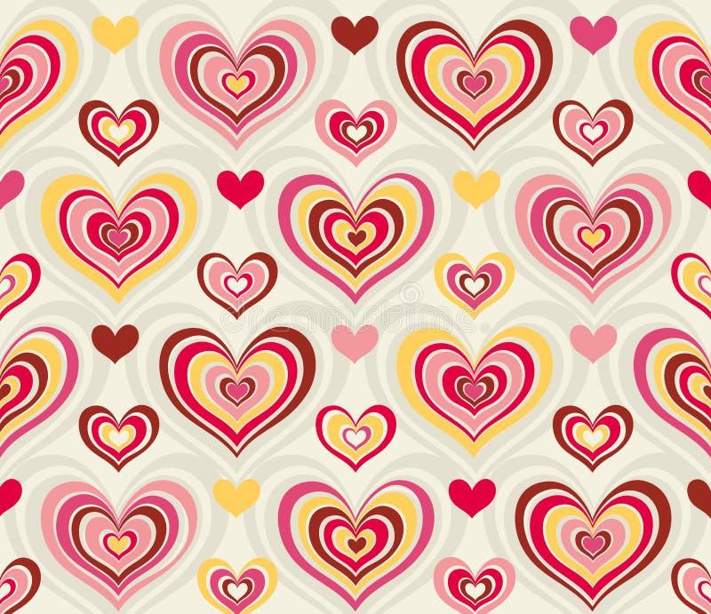 καρδιές αναδρομικές διανυσματική απεικόνιση