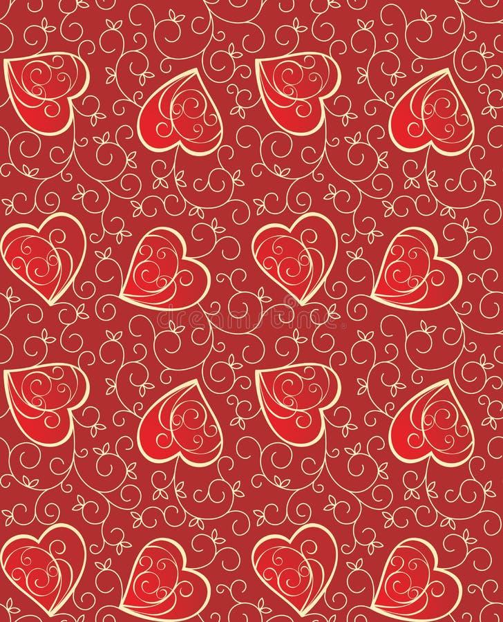 καρδιές ανασκόπησης άνευ ραφής διανυσματική απεικόνιση