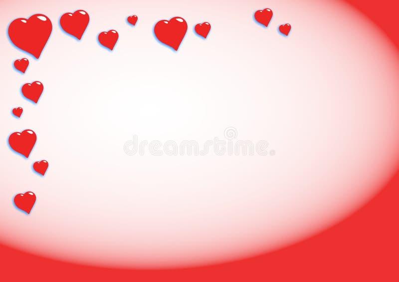 καρδιές ανασκόπησης διανυσματική απεικόνιση