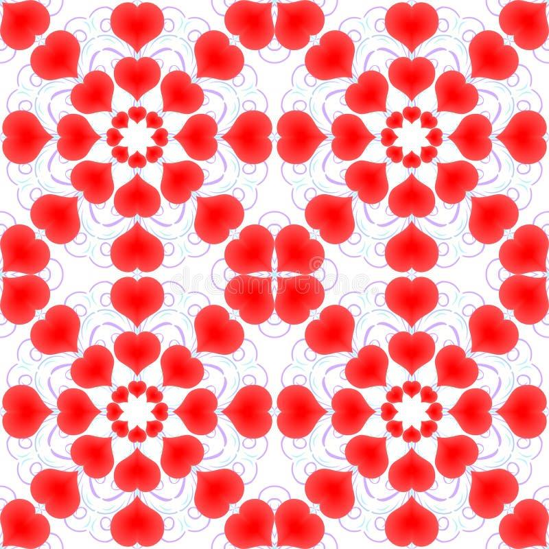 Καρδιές βαλεντίνος ημέρας s πρότυπο άνευ ραφής διανυσματική απεικόνιση