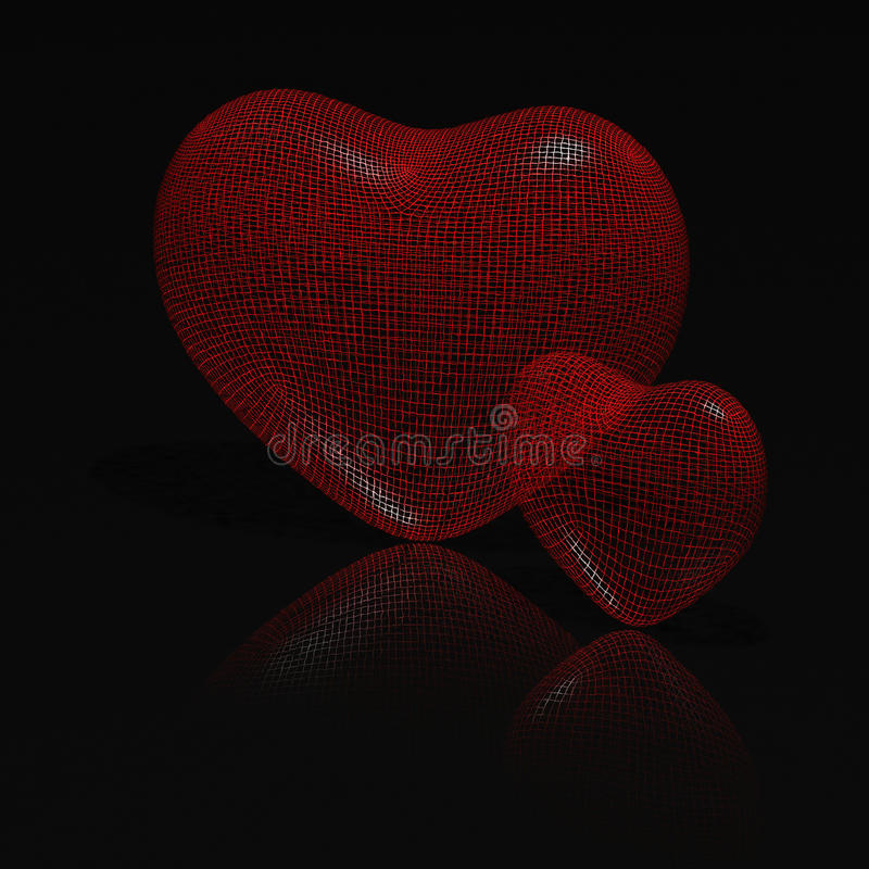 Download καρδιές δύο απεικόνιση αποθεμάτων. εικονογραφία από καλώδια - 17055673