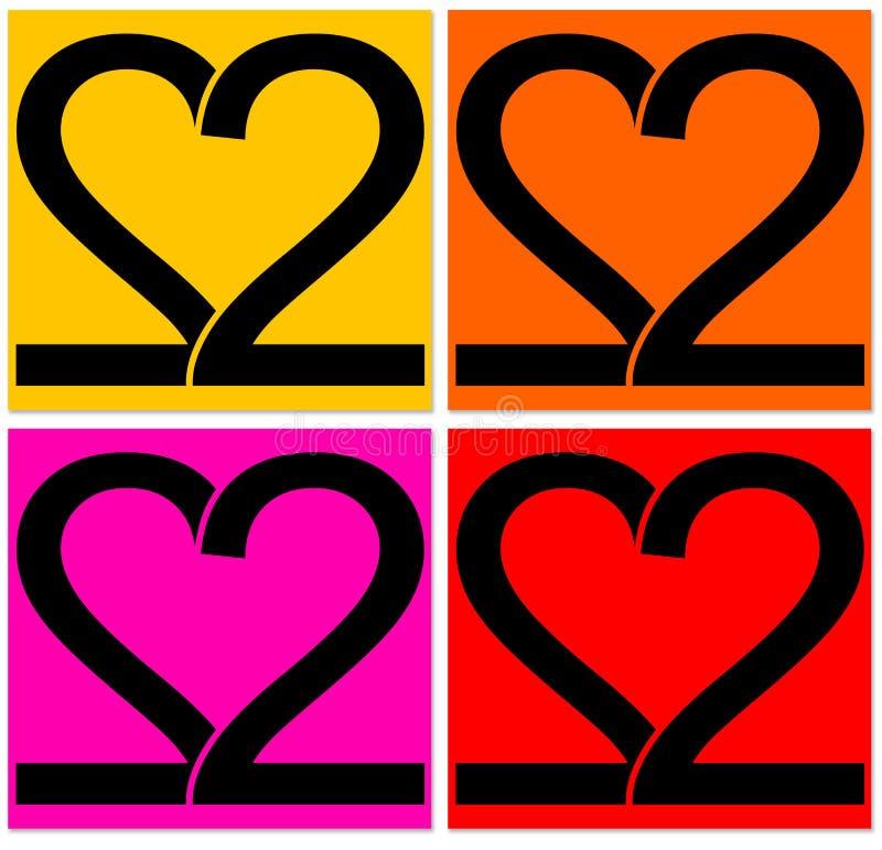 καρδιές δύο απεικόνιση αποθεμάτων