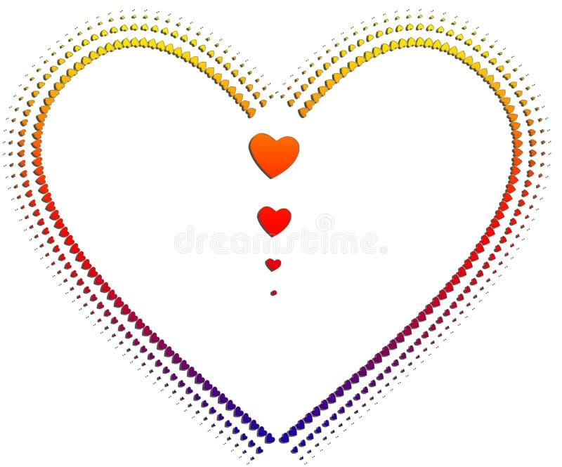 καρδιές καρδιών διανυσματική απεικόνιση