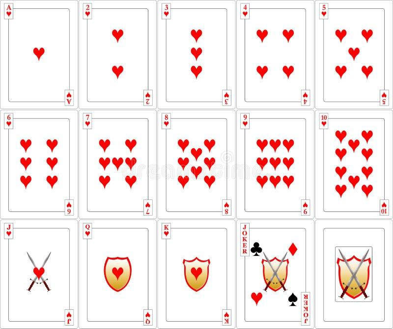 καρδιές καρτών που παίζο&upsilon στοκ εικόνα