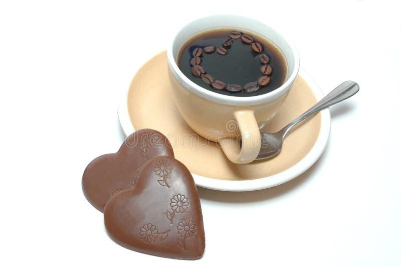 Download καρδιές καφέ σοκολάτας στοκ εικόνες. εικόνα από σκοτεινός - 13188920
