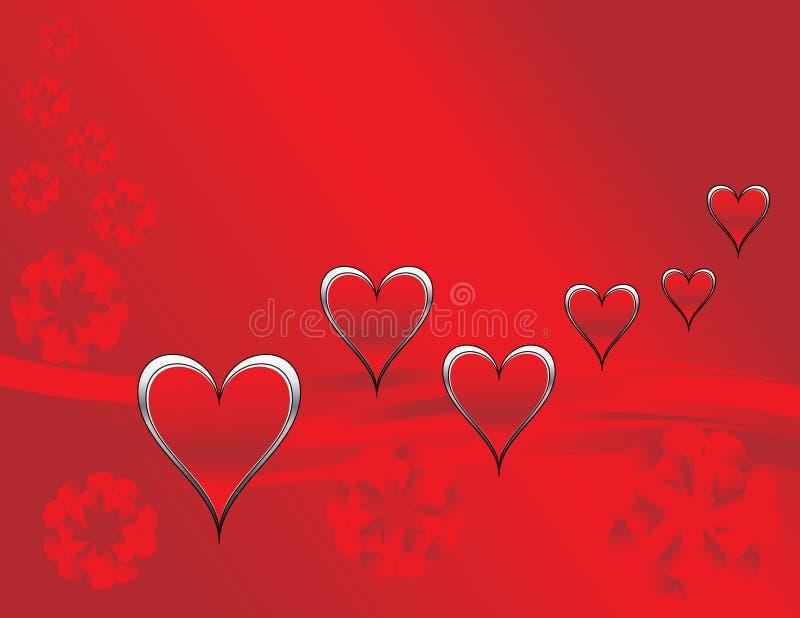 καρδιές λουλουδιών απεικόνιση αποθεμάτων