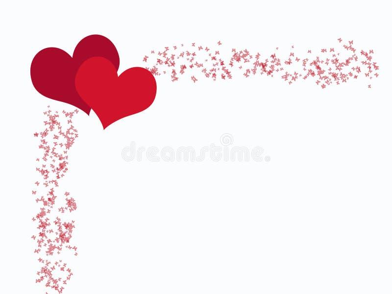 καρδιές πεταλούδων Στοκ φωτογραφία με δικαίωμα ελεύθερης χρήσης