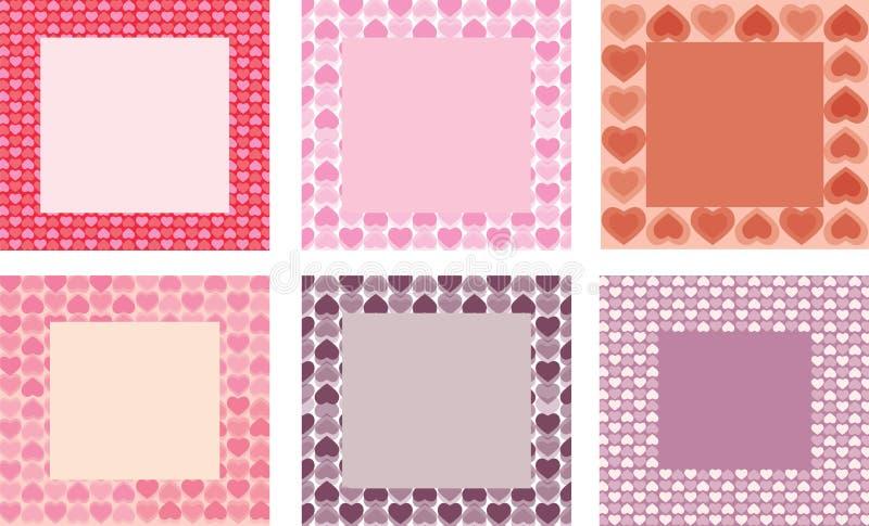 Download καρδιές πλαισίων διανυσματική απεικόνιση. εικονογραφία από ροζ - 22775901