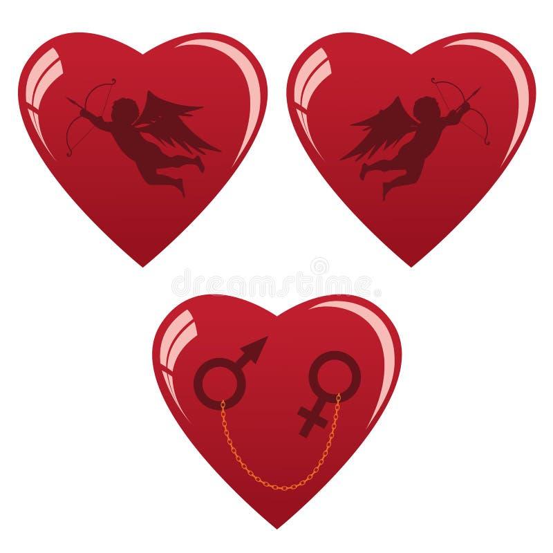 καρδιές που τίθενται απεικόνιση αποθεμάτων