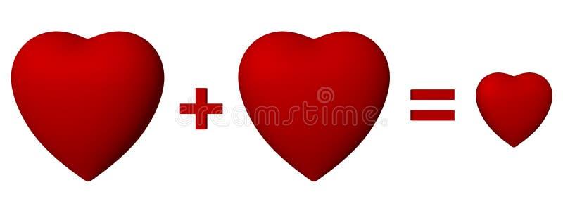 καρδιές τρία ελεύθερη απεικόνιση δικαιώματος