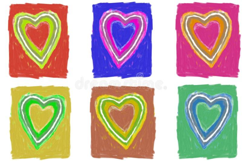 Download καρδιές απεικόνιση αποθεμάτων. εικονογραφία από montage - 386898