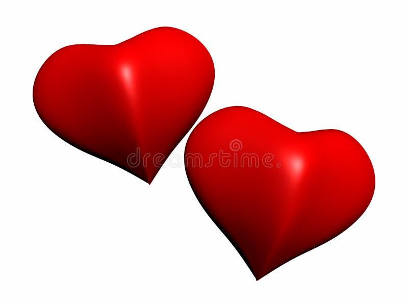 καρδιές Στοκ φωτογραφία με δικαίωμα ελεύθερης χρήσης