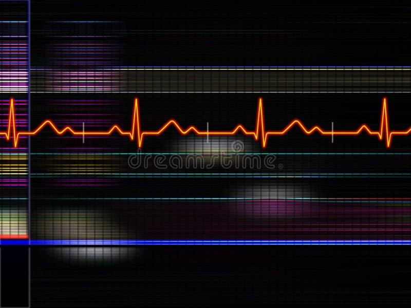 καρδιογράφημα διανυσματική απεικόνιση