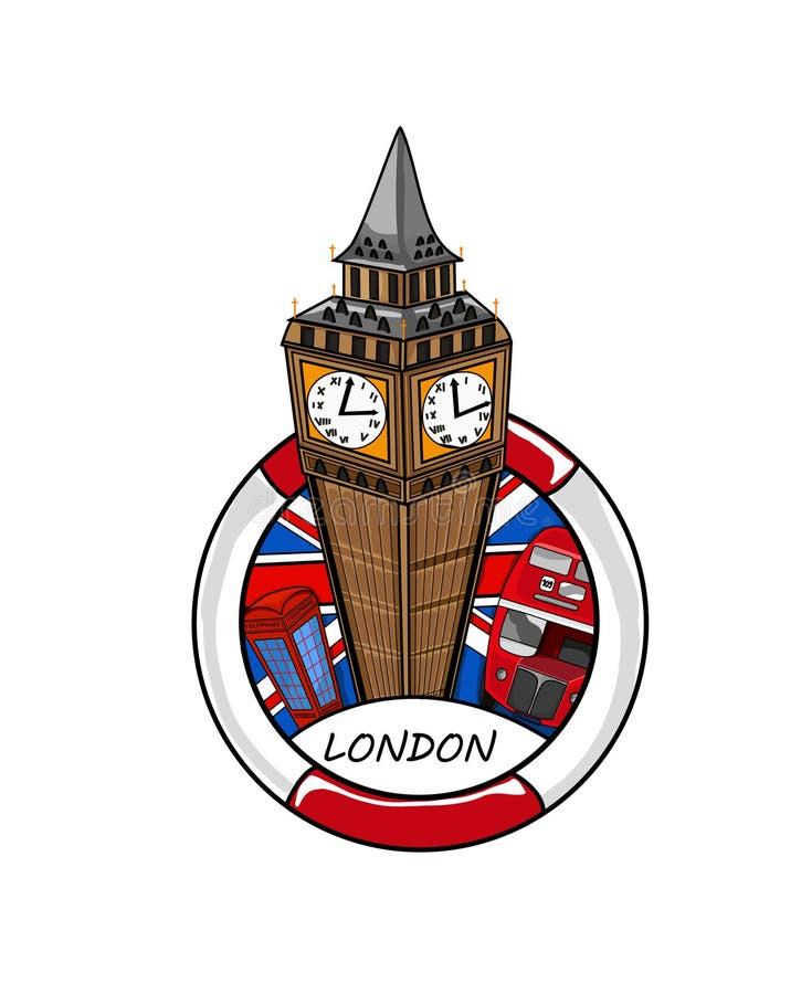 Καρικατούρα Big Ben στοκ φωτογραφία με δικαίωμα ελεύθερης χρήσης
