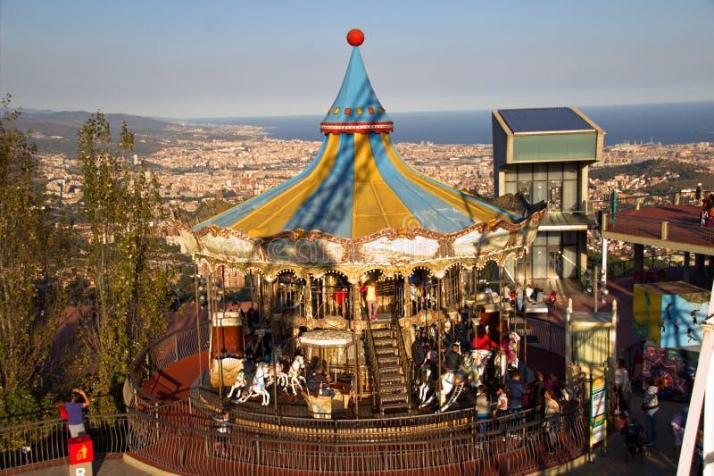 Καρναβάλι στην πόλη της Βαρκελώνης στοκ εικόνες