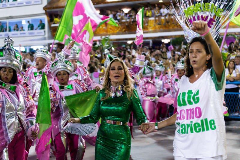 Καρναβάλι 2019 - Mangueira στοκ εικόνες