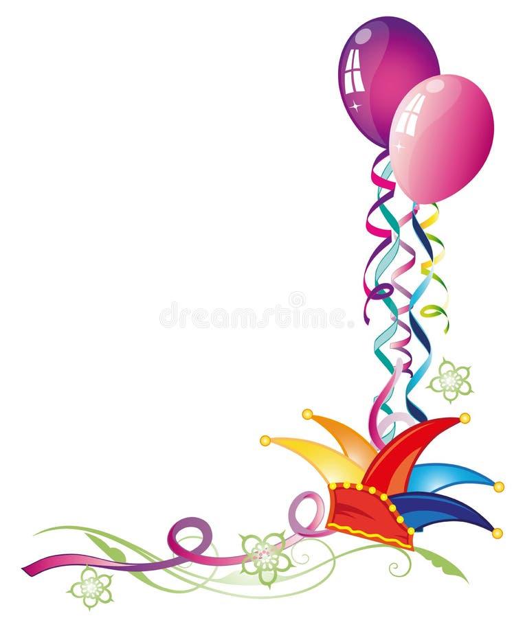 Καρναβάλι, μπαλόνια, ταινίες διανυσματική απεικόνιση