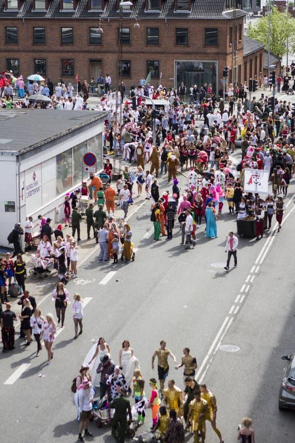 Καρναβάλι στην Ευρώπη, Δανία, Άαλμποργκ στοκ φωτογραφίες