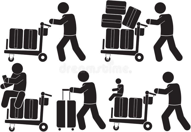 Καροτσάκι αποσκευών απεικόνιση αποθεμάτων