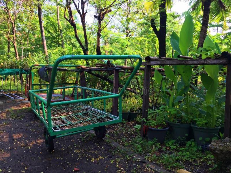 Καροτσάκι κήπων στο πάρκο στοκ φωτογραφίες