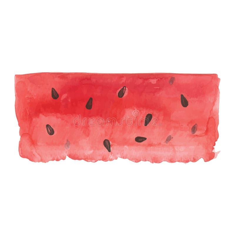 Καρπούζι Watercolor ελεύθερη απεικόνιση δικαιώματος