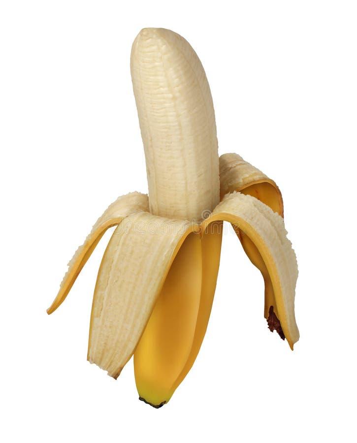 Καρπός μπανανών που ξεφλουδίζεται στοκ φωτογραφίες