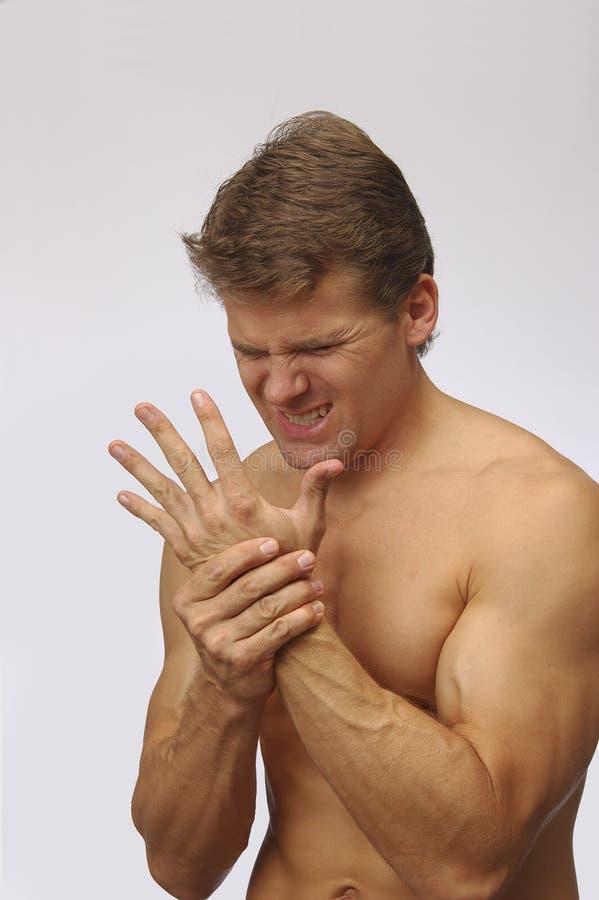 καρπός τραυματισμών χεριών στοκ φωτογραφίες