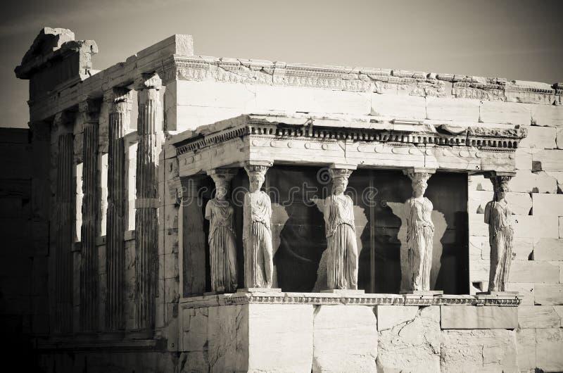 Καρυάτιδες, ακρόπολη, Αθήνα στοκ εικόνα με δικαίωμα ελεύθερης χρήσης
