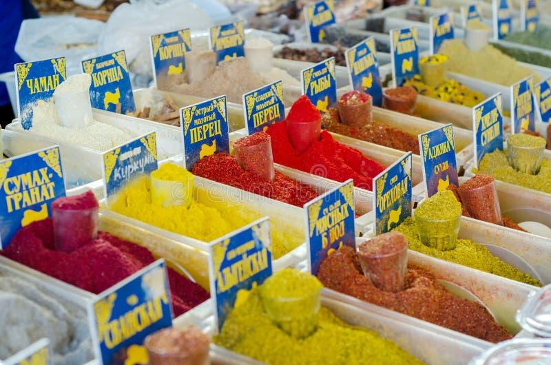 Καρυκεύματα σε bazar στοκ φωτογραφίες